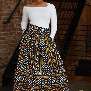 Mudcloth print skirt
